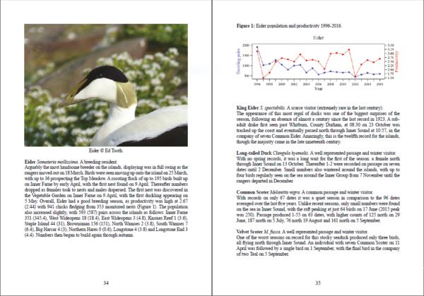 Costal Wildlife 2016 Booklet - inside view