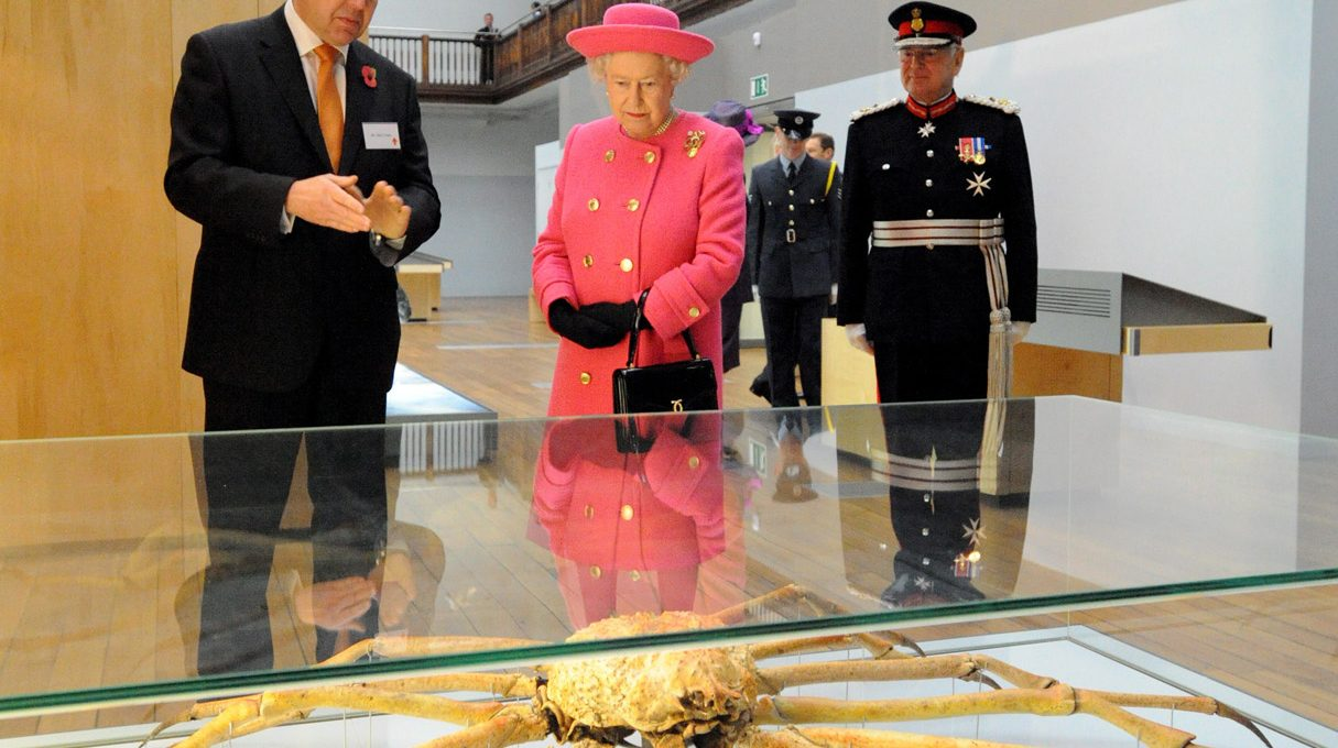 HRH Queen Elizabeth II touring the Great North Museum